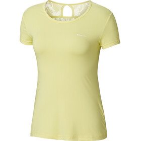Columbia Peak To Point Novelty - Camiseta manga corta Mujer - amarillo
